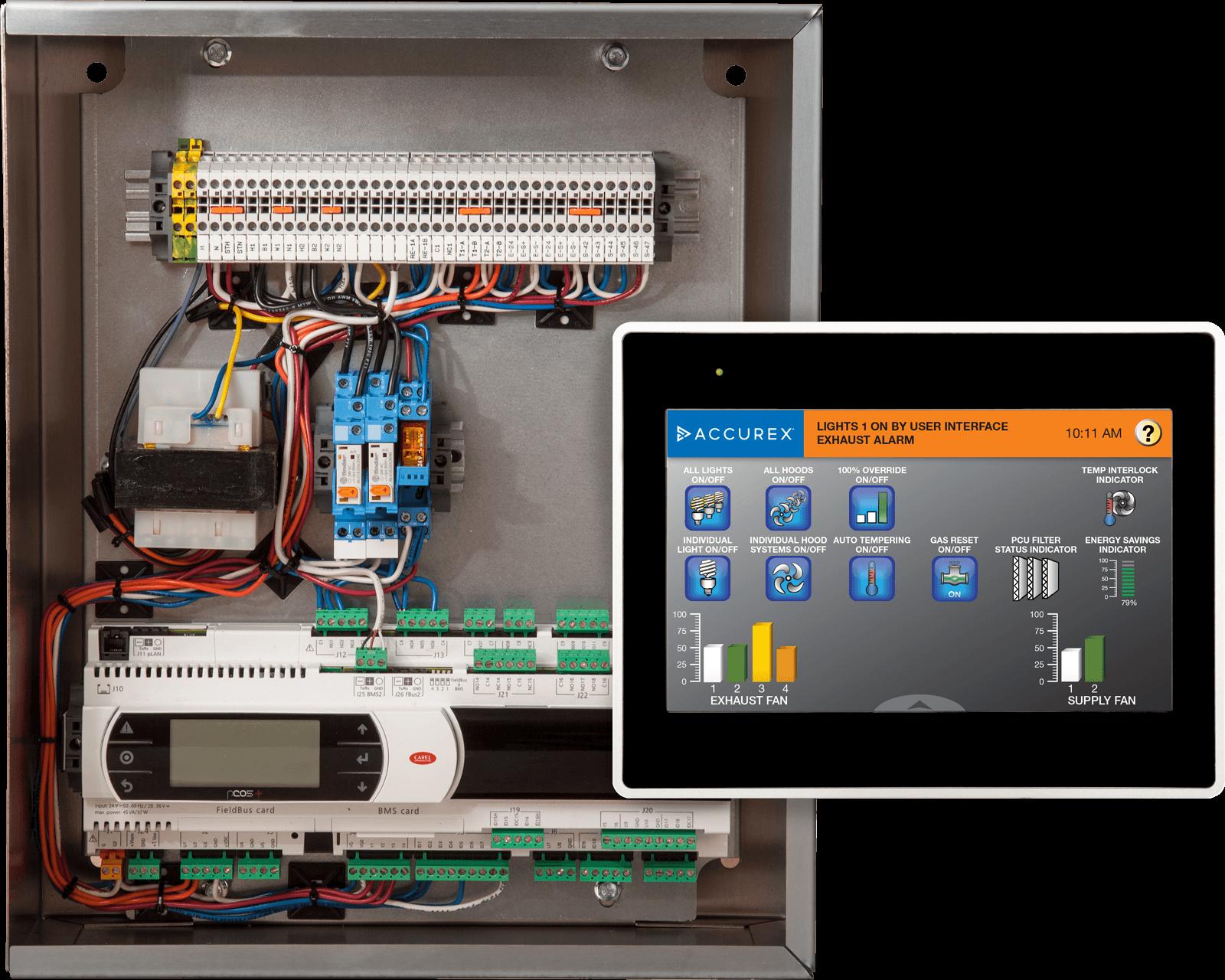 Vari-Flow Air Management System Control Box Touchscreen