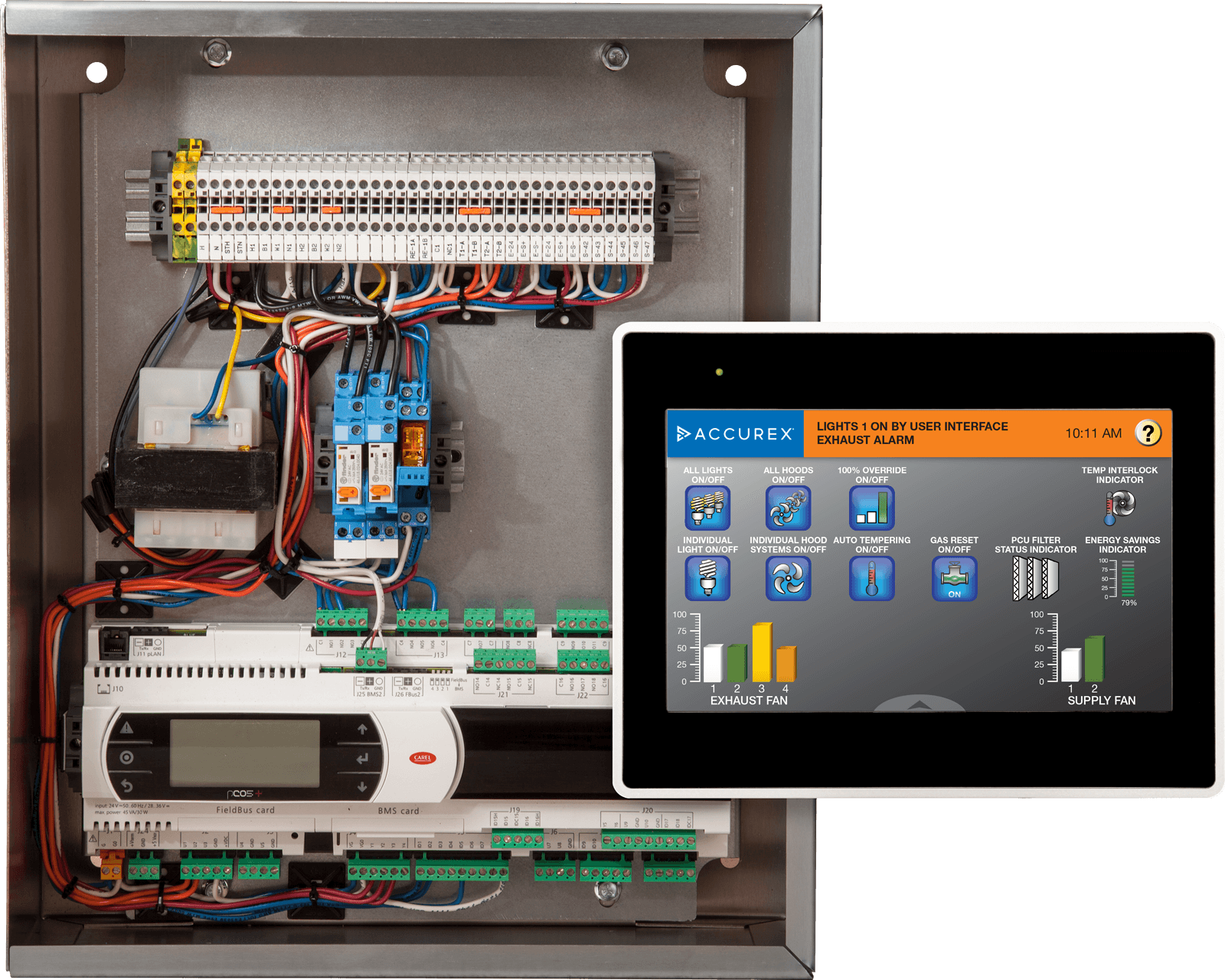 variflow control box touchscreen