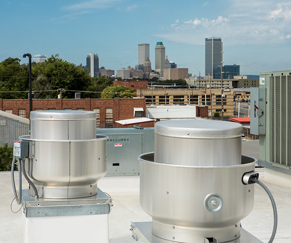 Mother Road Market Rooftop Exhaust Fans and MUA Unit
