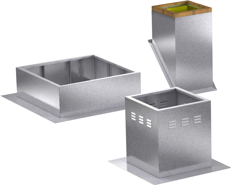 Models GPFV GPFHL GPIP Roof Curbs Blockout Rendering