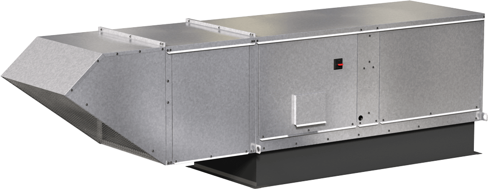 Model XDG Direct Gas Heated Make-Up Air Unit Product Rendering