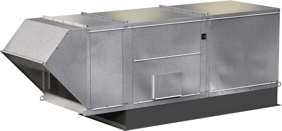 Model XDGX Direct Gas Heated Make-Up Air Unit Rendering