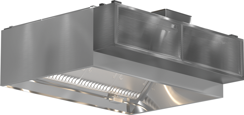 Models XGEW and GGEW Exhaust Only Wall Canopy Hood HSP Blockout Rendering