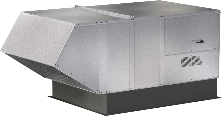 Model XIG Indirect Gas Fired Make-Up Air Unit Blockout Rendering