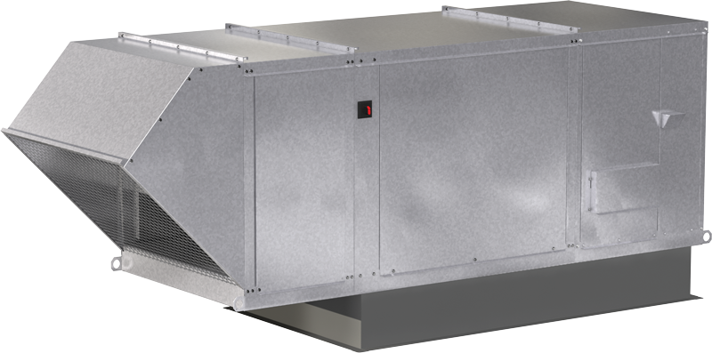 Model XIGX Indirect Gas Fired Make-Up Air Unit Blockout Rendering