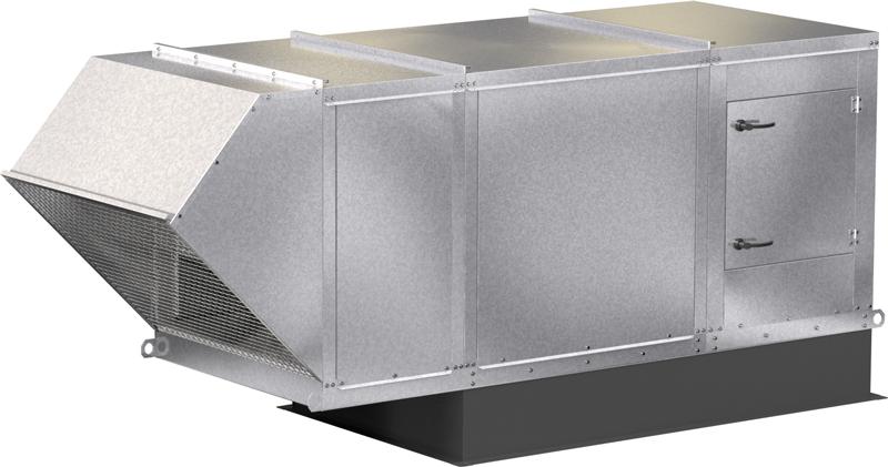 Model XMSX Make-Up Air Unit Product Rendering