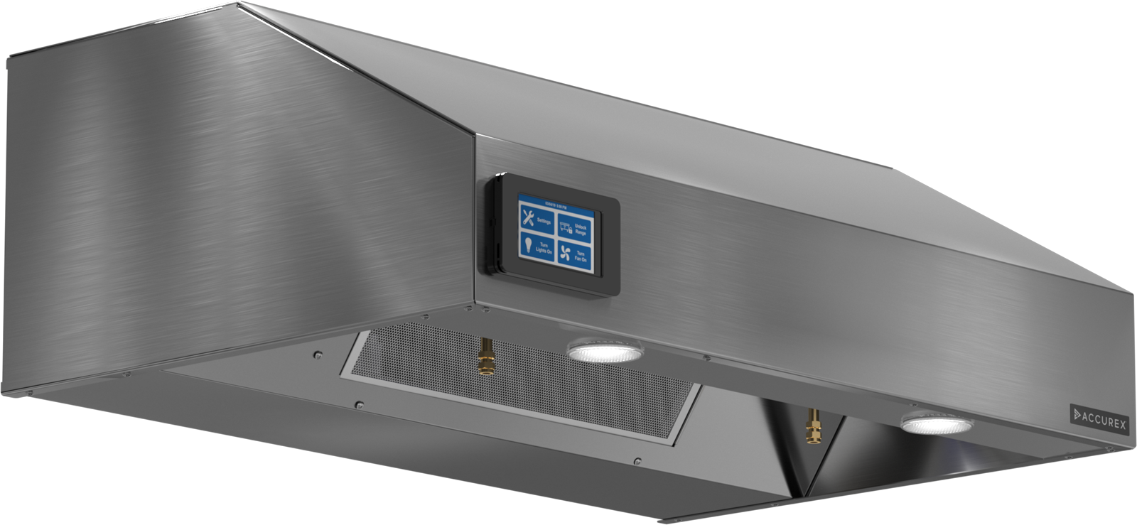 Models XRRS and GRRS Fire Ready Range Hood No Filter Rendering