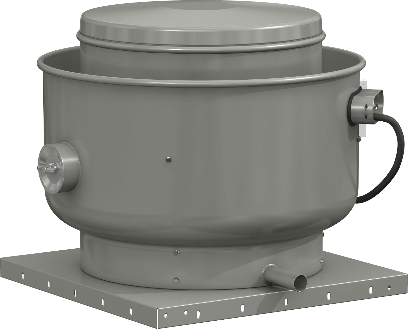 Model XRUBS Upblast Belt Drive Steel Exhaust Fan Product Rendering