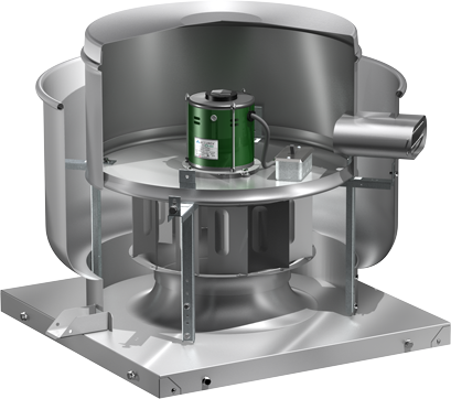 Model XRUD VariGreen Open Exhaust Fan Product Rendering