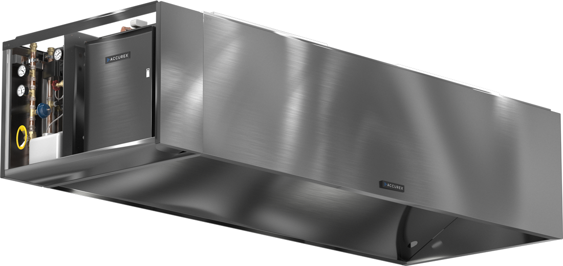 Models XWAE and GWAE Autoscrubber Exhaust Hoods Product Rendering